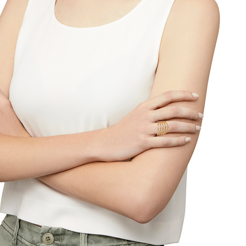 Model Content for Gorjana Carine Ring in Gold