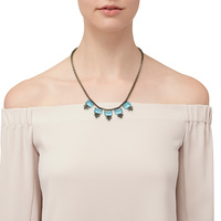 Model Content for Loren Hope Alex Petite Necklace in Bay Blue