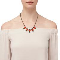 Model Content for Loren Hope Alex Petite Necklace in Paradise Red