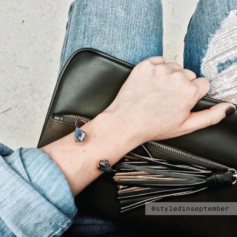 User Generated Content for Olivia & Grace Kite Shape Stone Bracelet in Labradorite