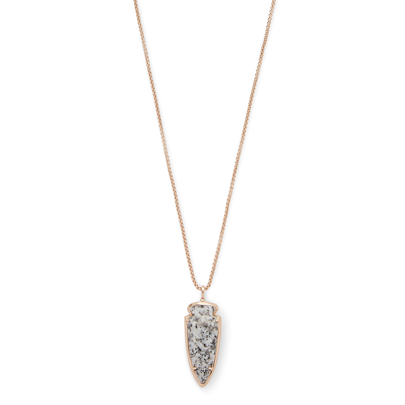 Model Content for Kendra Scott Kimmy Necklace in Gray Granite