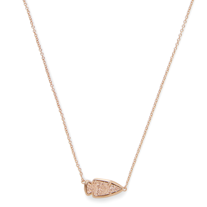 Model Content for Kendra Scott Kasey Necklace in Rose Gold Drusy