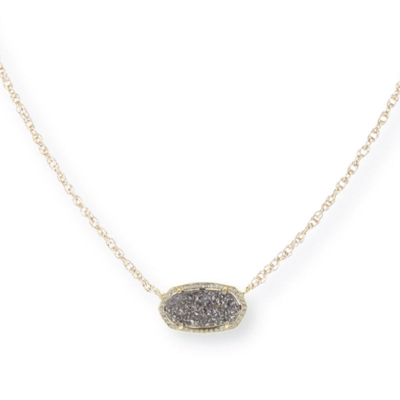 Model Content for Kendra Scott Elisa Necklace in Platinum Drusy