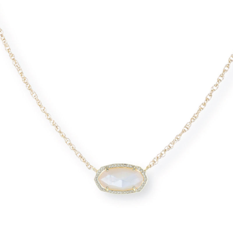 Model Content for Kendra Scott Elisa Necklace in Ivory Pearl