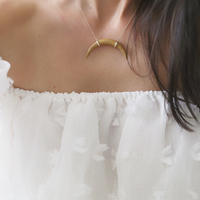 User Generated Content for Melanie Auld Crescent Wood Necklace in Blonde