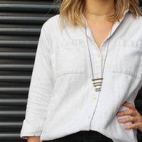 User Generated Content for SLATE Mixed Metal Ladder Drop Pendant