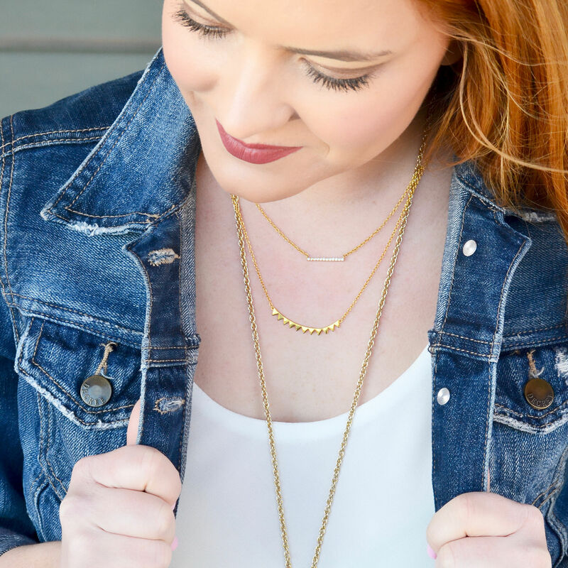 User Generated Content for Gorjana Knox Pavé Bar Necklace