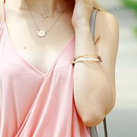 User Generated Content for Sophie Harper Pavé Triangle Necklace