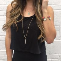 User Generated Content for Sophie Harper Pave Pendant Necklace in Gold