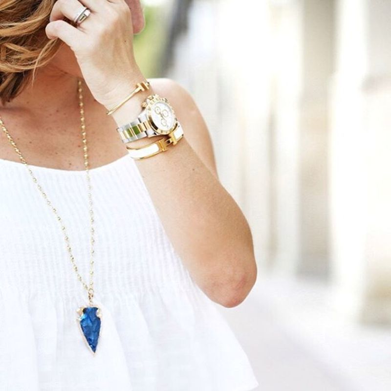 User Generated Content for Elise M Sahara Necklace in Electric Blue
