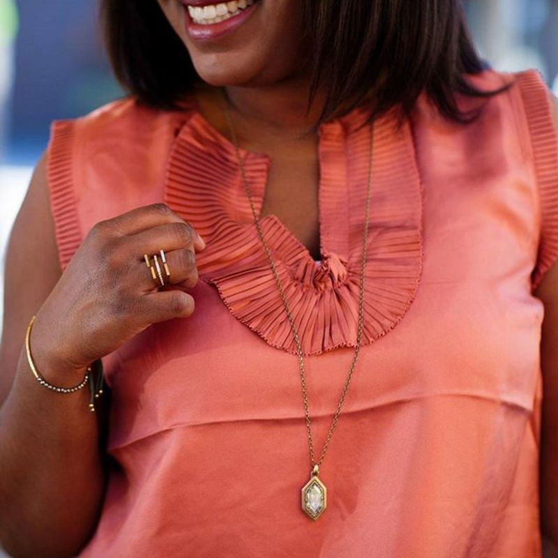 User Generated Content for Loren Hope Hex Pendant Necklace