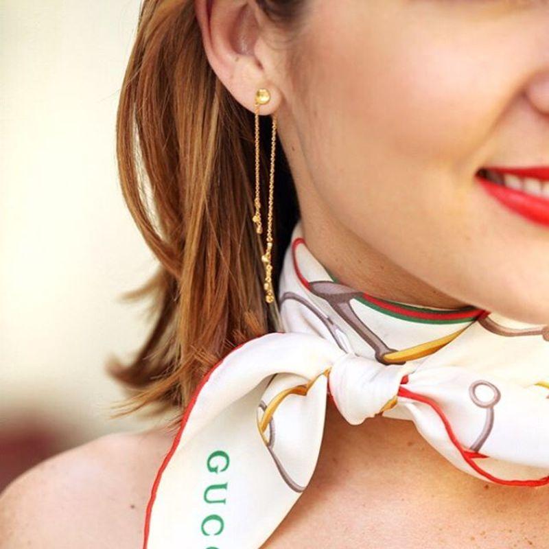 User Generated Content for Gorjana Chloe Mini Double Drop Earrings in Gold