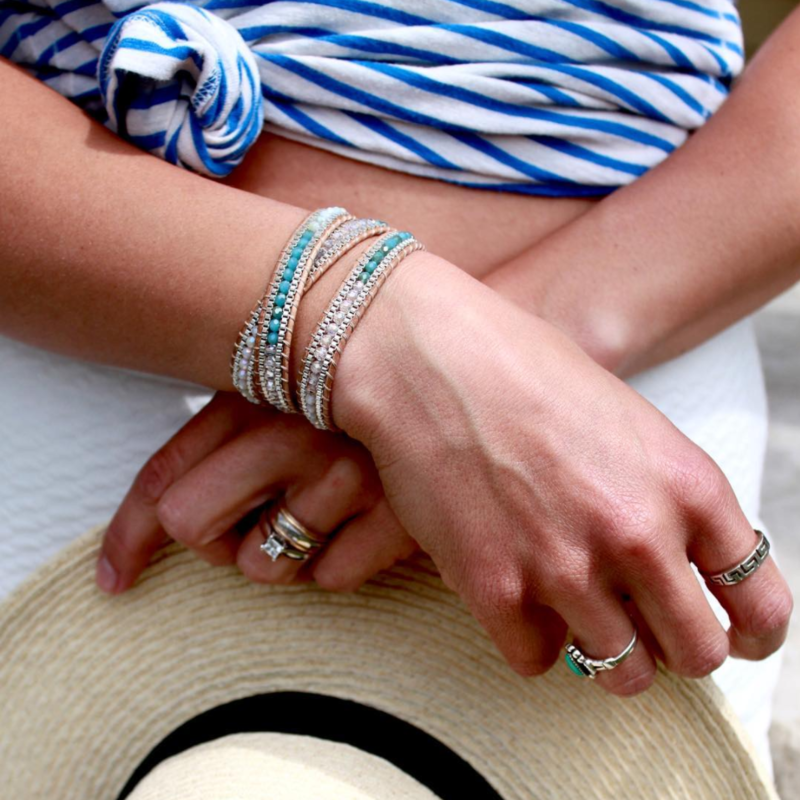 User Generated Content for Nakamol Cream and Mixed Beads Wrap Bracelet