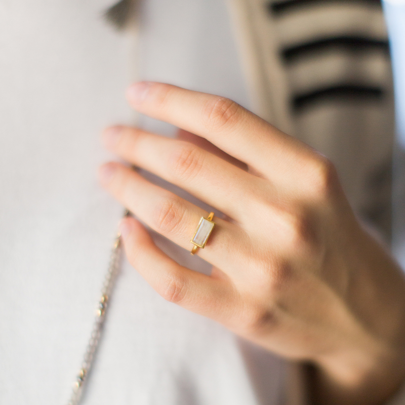 User Generated Content for Karen London River Ring in Rainbow Moonstone