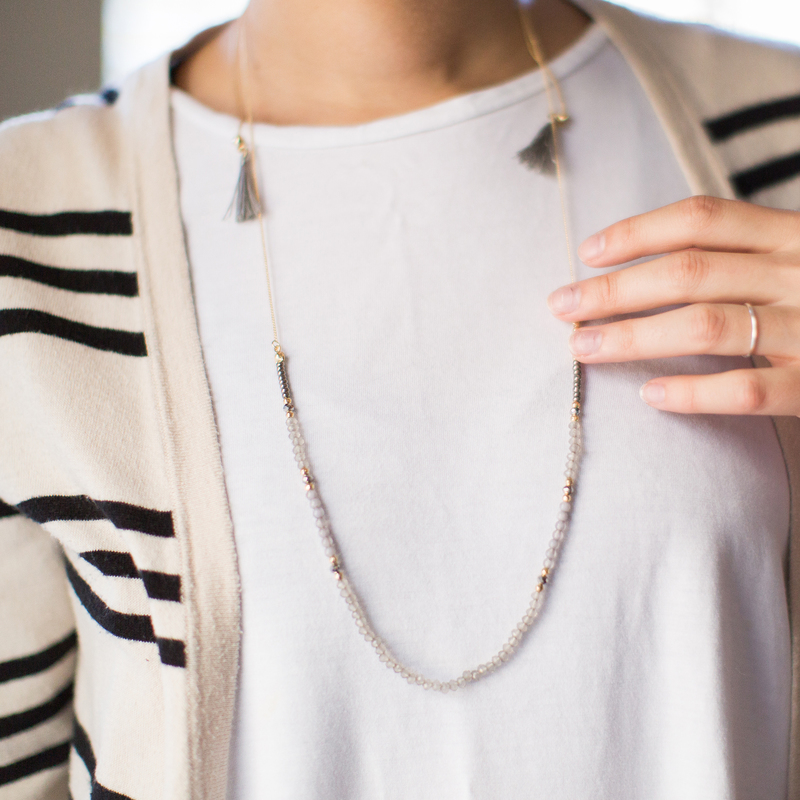 User Generated Content for SLATE Adrienne Adjustable Beaded Necklace