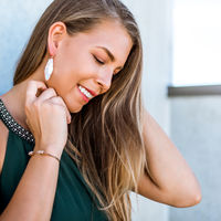 User Generated Content for Kendra Scott Bexley Earrings in Rose Gold and Ivory Mother of Pearl