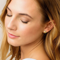 User Generated Content for Gorjana Chloe Small Studs in Gold