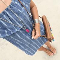 User Generated Content for Kendra Scott Frances Necklace in Pink Agate