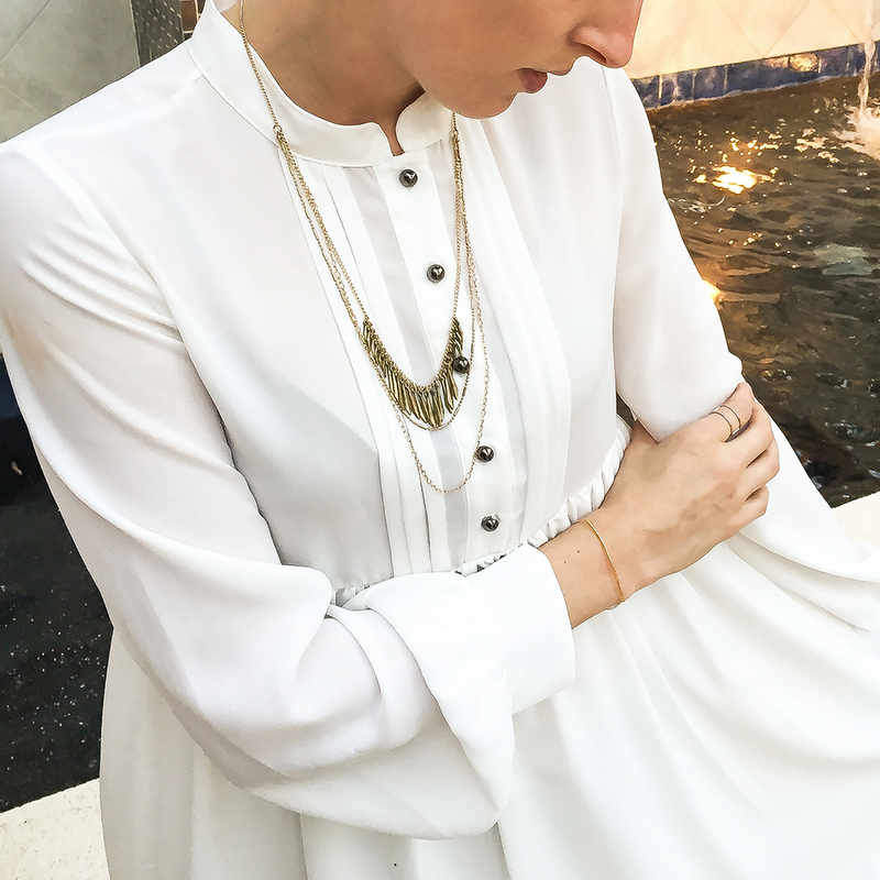 User Generated Content for SLATE Maya Necklace in Gold