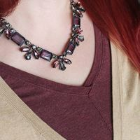 User Generated Content for Perry Street Ciara Statement Necklace in Hematite