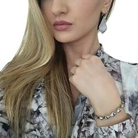 User Generated Content for Kendra Scott Alex Silver Earring in Slate