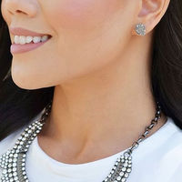User Generated Content for Kendra Scott Tessa Silver Stud Earrings in Platinum Drusy