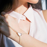 User Generated Content for Kendra Scott Lyle Hand Bracelet in Ivory Mother of Pearl