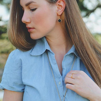 User Generated Content for Elise M Phoebe Earrings in Black Druzy