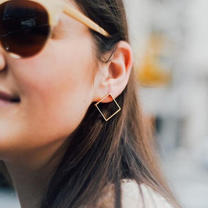 User Generated Content for a.v. max Large Diamond Earrings in Gold