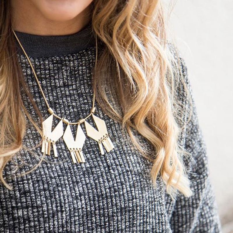 User Generated Content for SLATE Geometric Statement Necklace
