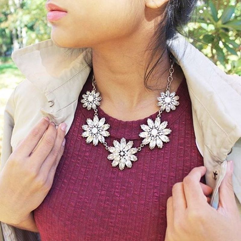 User Generated Content for Perry Street Blossom Crystal Necklace