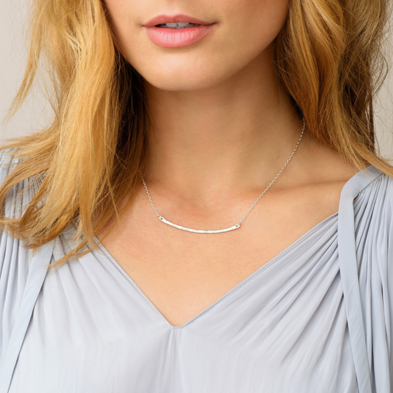 User Generated Content for Gorjana Taner Bar Small Necklace in Sterling Silver