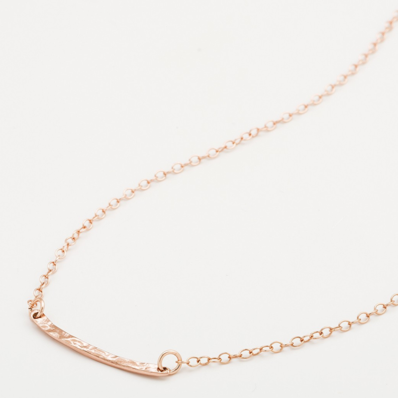 User Generated Content for Gorjana Taner Bar Mini Necklace in Rose Gold