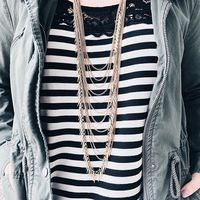 User Generated Content for Jenny Bird Palm Cascade Necklace in Gold
