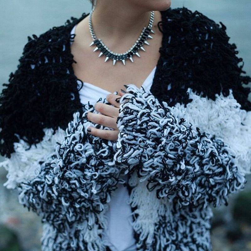 User Generated Content for SLATE Spiked Out Necklace in Silver