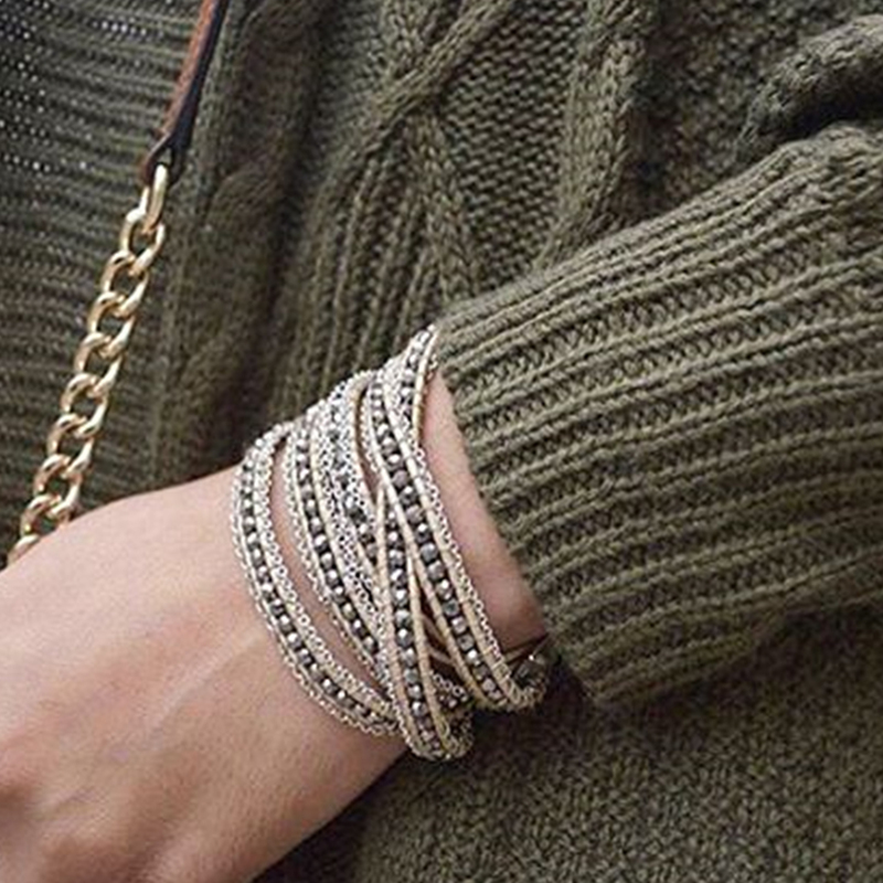 User Generated Content for Nakamol Silver Crystal Chain Five Times Wrap Bracelet