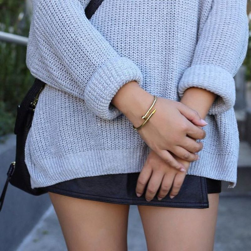 User Generated Content for Wanderlust + Co XL Screw-Split Gold Bangle