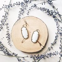 User Generated Content for Kendra Scott Elle Earrings in White Pearl