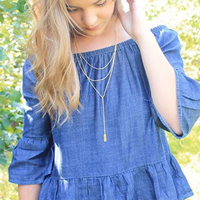 User Generated Content for Gorjana Joplin Layered Lariat in Gold