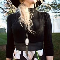 User Generated Content for Kendra Scott Rayne Necklace in White Banded Agate