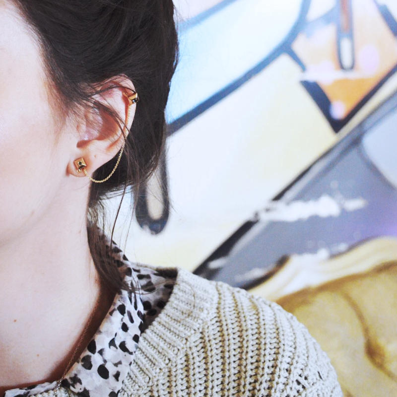 User Generated Content for House of Harlow 1960 Lyra Ear Cuff and Stud Set in Gold and Blue