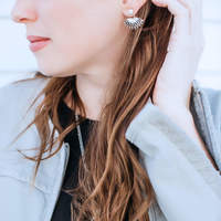 User Generated Content for SLATE Kaya Beaded Ear Jackets in Silver