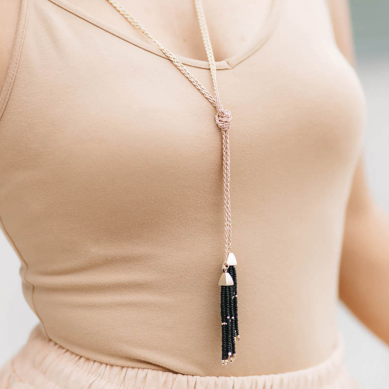 User Generated Content for SLATE Natalie Tassel Necklace