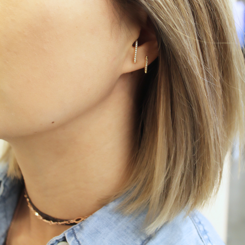 User Generated Content for SLATE Alix Ear Suspenders in Gold Crystal and Black Diamond