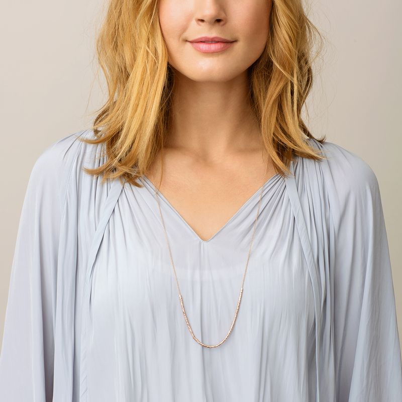 User Generated Content for Gorjana Laguna Adjustable Necklace in Rose Gold