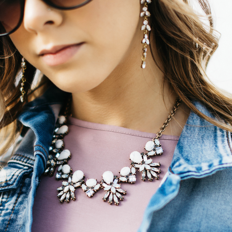 User Generated Content for Perry Street Leandra Statement Necklace in Howlite