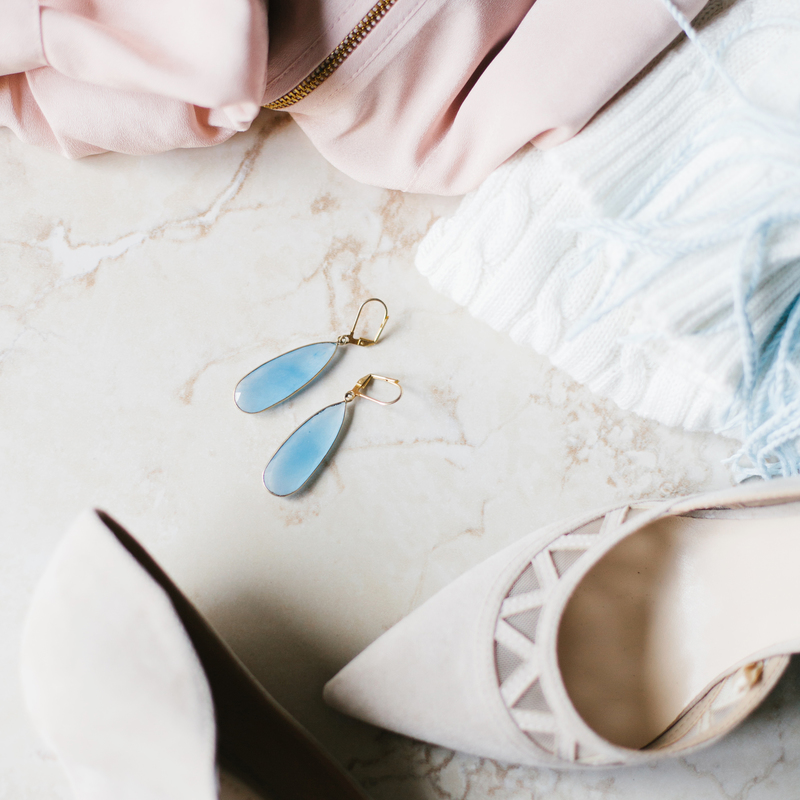 User Generated Content for Olivia & Grace Lorena Earrings in Blue Quartz