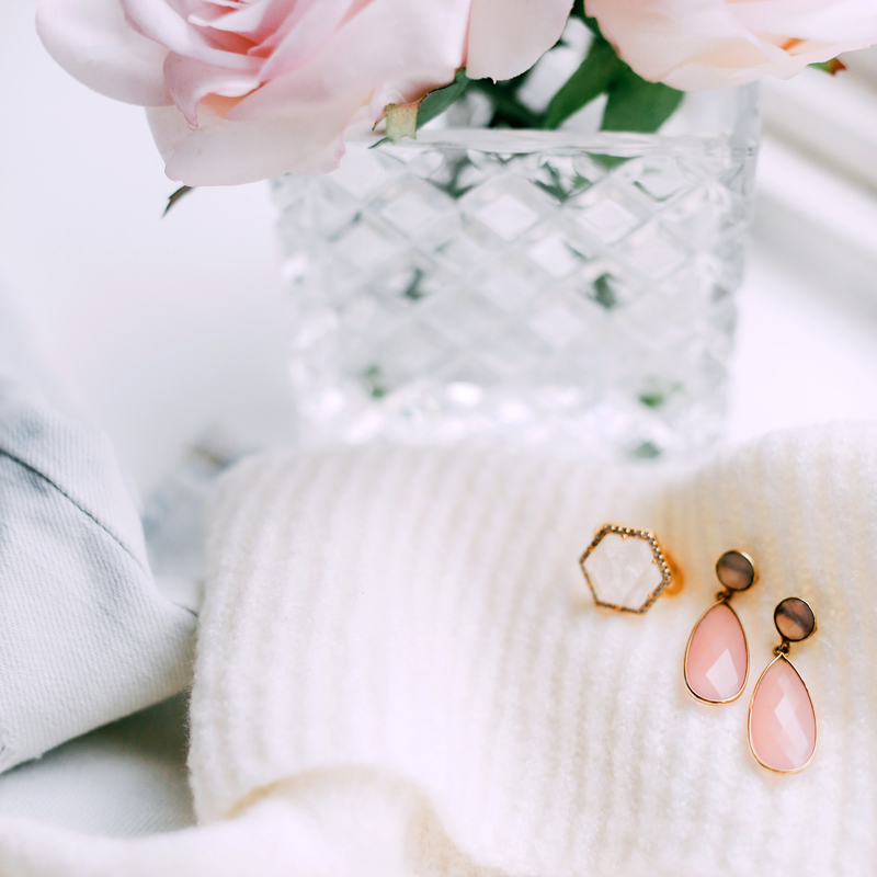 User Generated Content for Olivia & Grace Lila Earrings in Pink Chalcedony