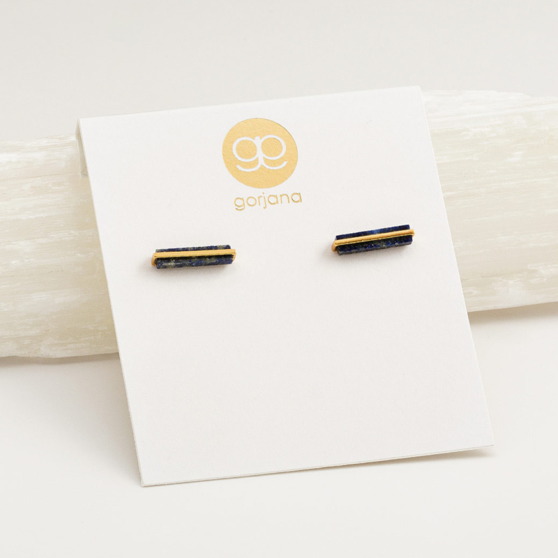 User Generated Content for Gorjana Dez Bar Studs in Gold and Lapis