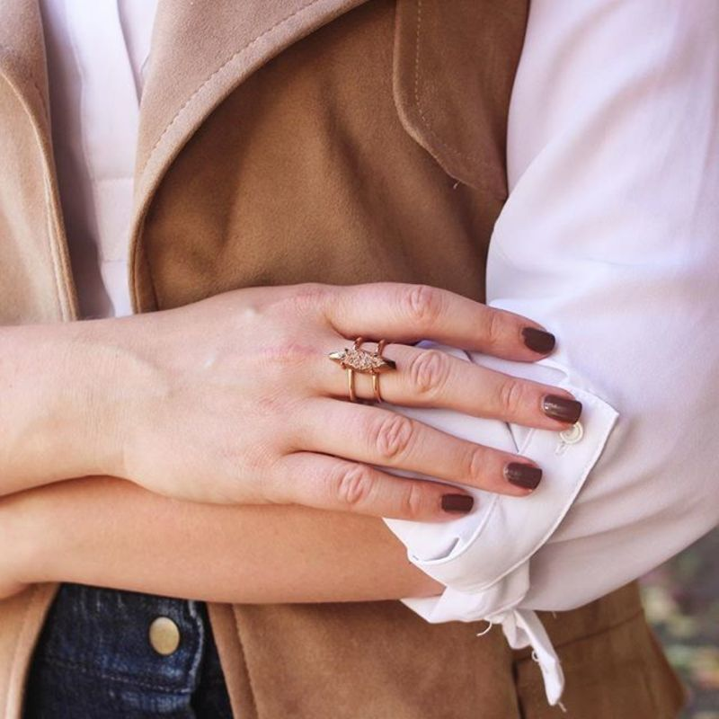 User Generated Content for Kendra Scott Boyd Ring in Rose Gold Drusy